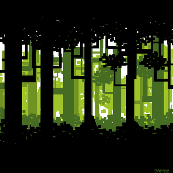 Pixel Forest by zahraa-alz