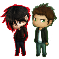 Damon and Stefan - Brothers Salvatore by Kariotic