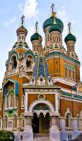 Russian church in Nice. by vangel777