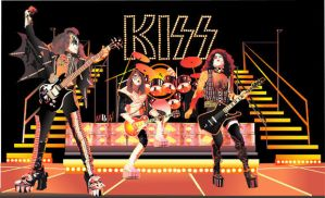 Kiss onstage: Illustrator draw by choffman36