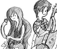 Marceline and Marshal Lee by FanOfFiona