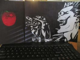 Ryuk Chasing a Apple by SeraphinaPitchiner