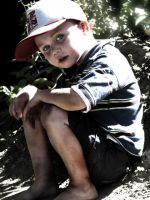 Think of the boy in the redhat by Twits-oia