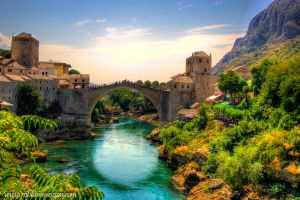Old bridge in Mostar by Robgrafix