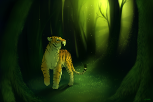 Green forest+Speedpaint by Yechii