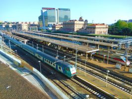 Overview of the station of Genoa-Brignole by GladiatorRomanus