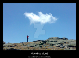 the girl and the cloud by DaMoni