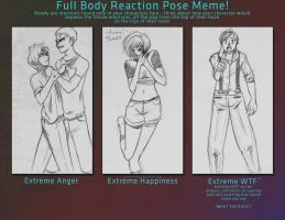 Full Body Reaction Pose meme by EmpressShizuka