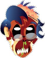 Zombie Nerd Mask by mannycartoon