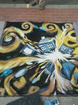 Chalk Art Festival - Exploding TARDIS by ScalemateJudge