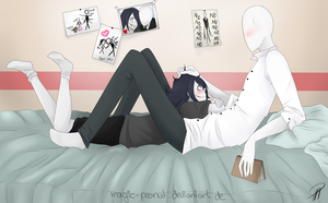 Slenderman x Jeff the Killer // Hey There~ by Magic-Peanut
