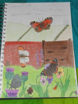 Butterfly garden - coloured by Fang100