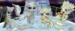 YUGIOH Bakura and Marik cats by Alopiidae