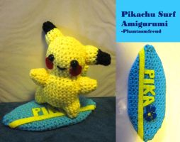 Pikachu Surf Amigurumi by Phantasmfreud
