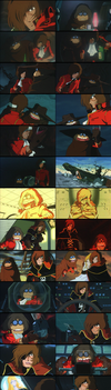 Captain Harlock and Tochiro - Arcadia of My Youth by TheWolfPoet23