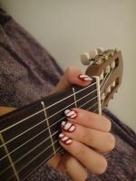 Christmas style nails by lioness14
