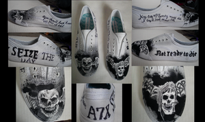 A7X Custom Shoes by foREVerA7Xfan