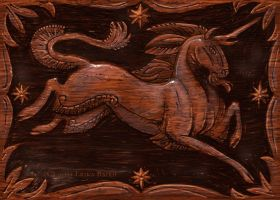 Wood unicorn by Starhorse