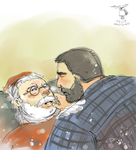 I saw Daddy kissing S. Claus by beardrooler