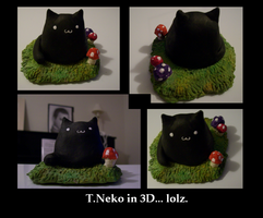 T.Neko in 3D by Meli-ichigo