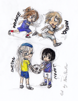 Hetalia women football by YamiPanther