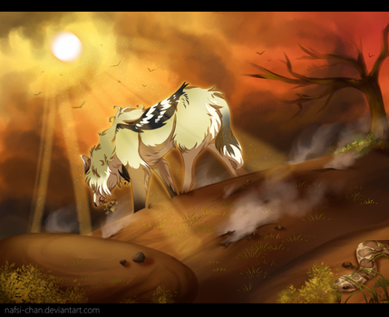 .:WoLF:. Death Valley by Nafsi-chan
