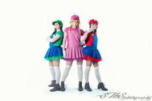 Mario Bros Girls by Elsa-Cosplay