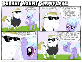 Secret Agent Snowflake by KTurtle