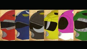 Mighty Morphin Power Rangers Wallpaper by mexicoknight