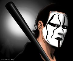 Sting Drawing by AllenThomasArtist