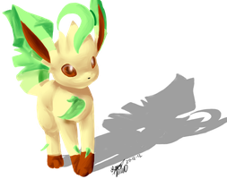 Leafeon by Freeze-pop88