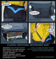 Nightwing Messenger Bag! by nekojindesigns