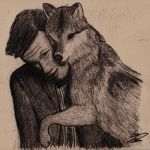 Wolf Glomp by 11thDoctor