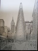 double perspective drawing ny by nilsgermain