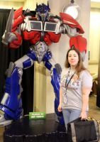 Me and TF Prime Optimus Statue by Lady-Elita-1