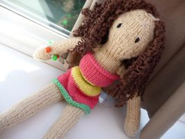 Knitted Dolly by Mrs-Yum-Yums