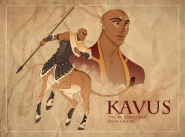 Kavus Character Sheet by hellcorpceo