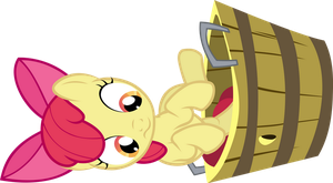 Applebloom in a bucket by FabulousPony