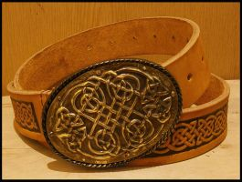 Belt with celtic design by simoniculus