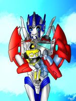 Optimus  and Light :PC: by Blue-Starlights