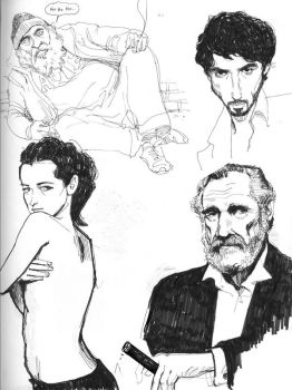 sketchbook scans with hobo by damianblake