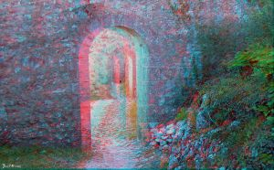 The way (3D anaglyph) by CharlieMerci