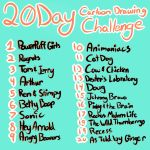 20 Day Cartoon Drawing Challenge by Chicken818