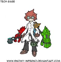 S-I Character Design: The Tech by snowy-inferno