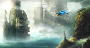 Oceanic world colony by ARTOFJUSTAMAN