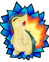 Commission: Cyndaquil by ShadowLiepard