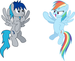 Swift and Rainbow Hovering by outlaw4rc