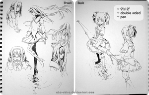 Sketchbook Page 7 [Madoka, auction closed] by Aka-Shiro
