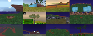 Screenshots of redone maps of feralheart! (red by americacat1