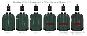 95th Rifles Uniforms 1812 by SimonLMoore